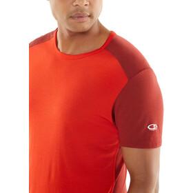 Icebreaker Amplify Koszulka do biegania z krótkim rękawem Mężczyźni czerwony